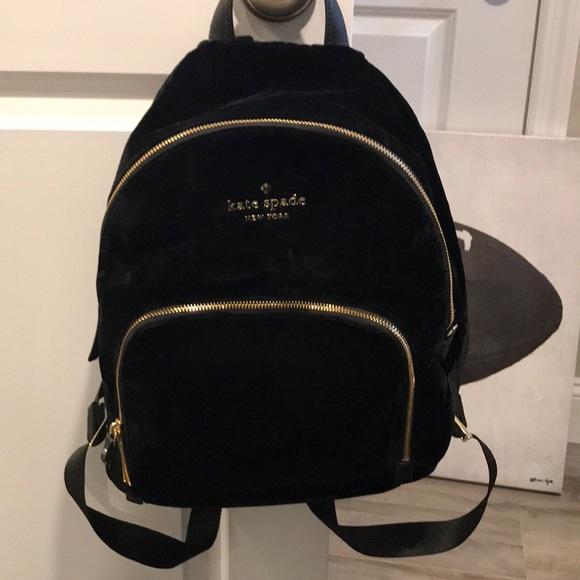 Kate Spade Watson Lane Velvet Backpack